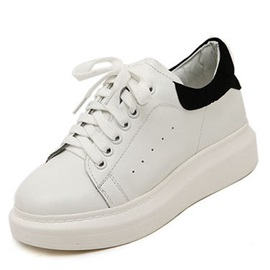 Lace-up Platform Slip-On Sneakers