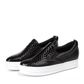 Embossing Loafer Slip-On Sneakers