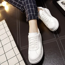 Solid Color Round Toe Women's Sneakers