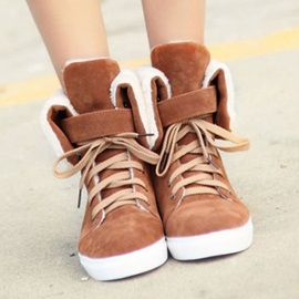 Suede Lace-Up Front Women's Sneakers