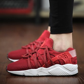Mesh Patchwork Lace-Up Sneakers