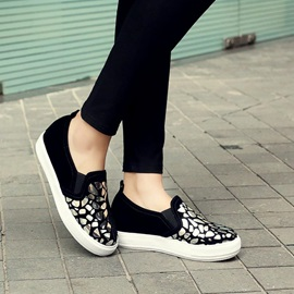 Leopard Printed PU Loafers