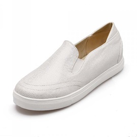 PU Elastic Band Slip-On Loafers