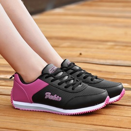 Color Block Round Toe Running Shoes