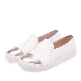 PU Thread Slip-On Skater Shoes