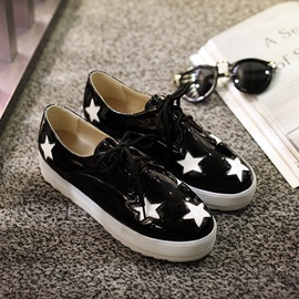 Stars Pattern Lace-Up Sneakers