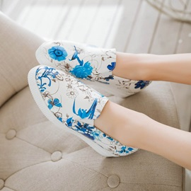Floral Printed Slip-On Loafers