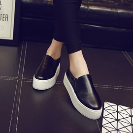 Solid Color Round Toe Skater Shoes