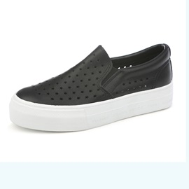 PU Hollow Slip-On Sneakers