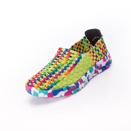 Contrast Color Crochet Sneakers