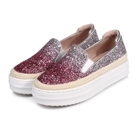 Gleaming Sequins Slip-On Loafers