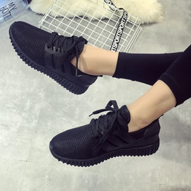 Pretty Breathable Mesh Lace-Up Sneakers