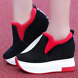 Contrast Color Elevator Heel Sneakers