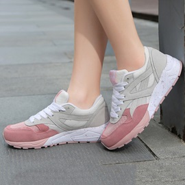 Contrast Color Mesh Patchwork Running Shoes