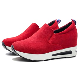 Suede Slip-On Round-Toe Casual