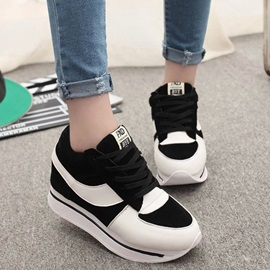 Color Block Thread Round-Toe Sneakers