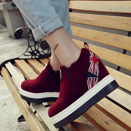 Suede Slip-On Platform Thread Sneakers