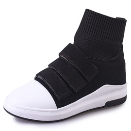 PU Velcro Platform Thread Sneakers