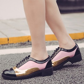 PU Lace-Up  Women's Fashion Sneakers