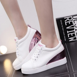 Fashion PU Lace-Up Women's Sneakers