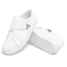 PU Velcro Platform Plain Women's Chic Sneakers