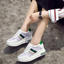 Mesh Lace-Up Platform Sneakers for Women
