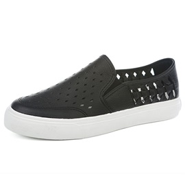 PU Slip-On Hollow Women's Casual Shoes