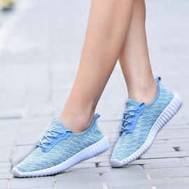 Mesh Lace-Up Breathable Simple Women's Sneakers