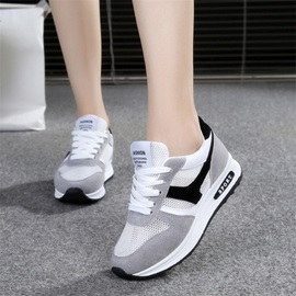 Mesh Lace-Up Breathable Platform Women's Sneakers