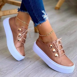Lace-Up Closed Toe Lace-Up Western Sneakers