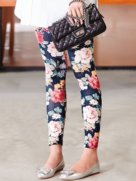 Floral Printing Patchwork Maternity Leggings