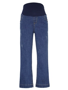 Leg Loose bell-bottomed Maternity Jeans