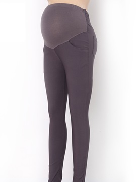 Slimming Plain Stretchy Maternity Leggings