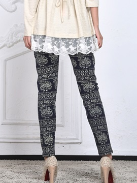 Simple Printing Loose-Fit Maternity Leggings