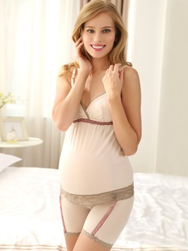Pure Color Lace-Trim Maternity Shaping Brief