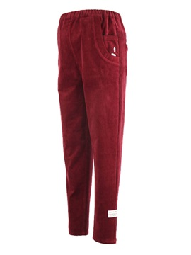 Maternity Red Care Abdominal Tall Bootcut Stretch Corduroy Pants