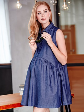 Fashion Casual Sleeveless Maternity Dress