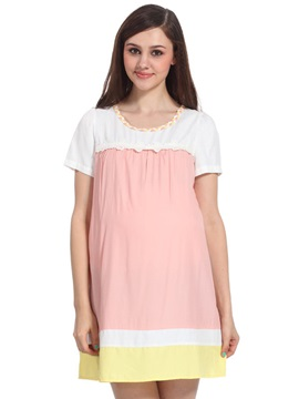 Short Sleeve Bamboo Maternity Dress