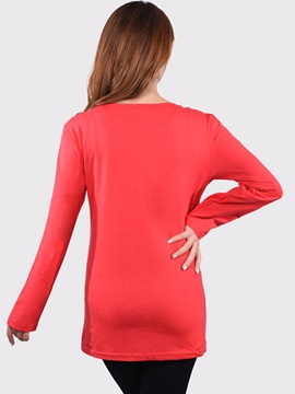 Simple Thickening Long Sleeve Maternity T-Shirt