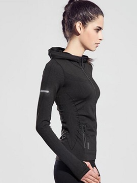 Long-Sleeve Zipper Women Running Hoodies