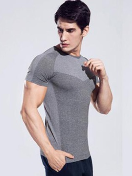 Nylon Short-Sleeve Men's Sports T-shirt