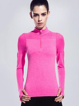 Long-Sleeve Half-Zip Women Running Top