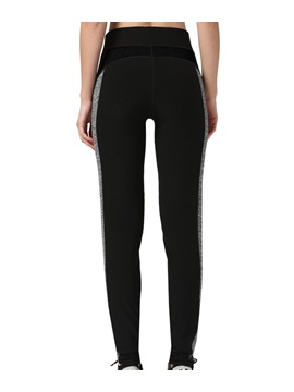 Polyester Contrasting Color Women Running Pant