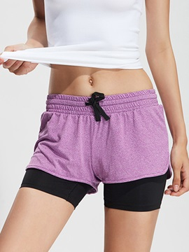 Polyester 2 In 1 Women High-Rise Shorts