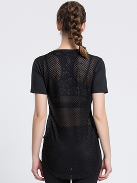 Polyester Essential Mesh Back Active Shirt