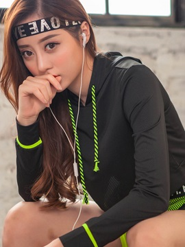 Polyester Breathable Comfortable Fit Long Sleeve Running Hoodies