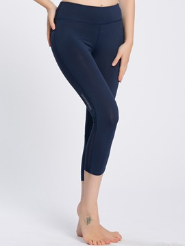 High Stretchy Solid Cropped Yoga Pant
