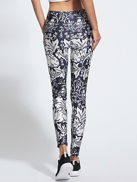 High Wrist Quick Drying Floral Printed Yoga Pant