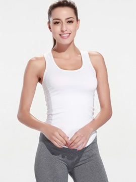 Fast Drying Pure Color Tank And Cropped Pant Yoga Suit