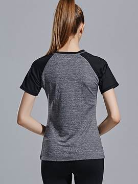 Raglan Sleeve Summer Gym Women Shirt